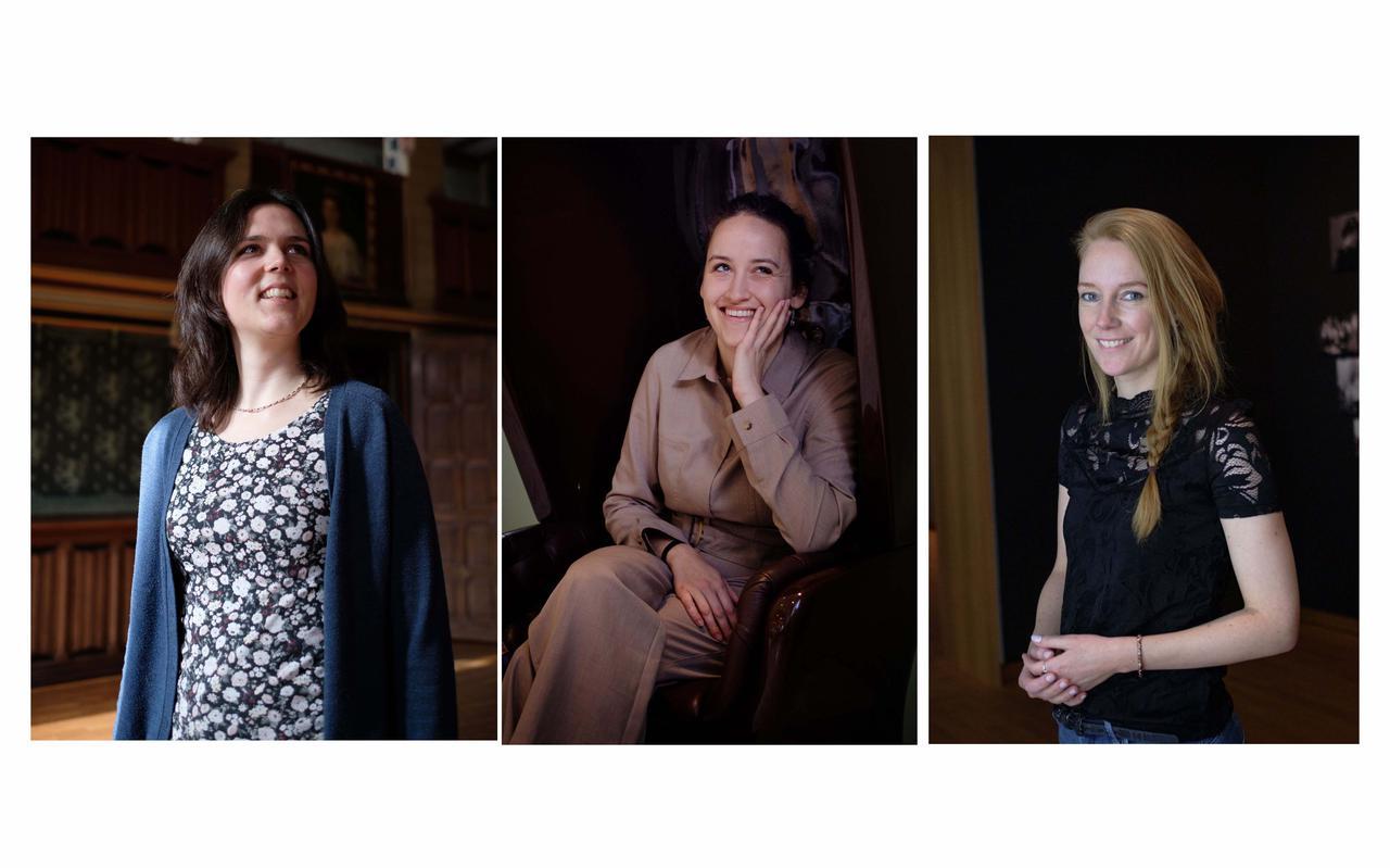 Floor Huisman, Nadia Abdelkaui en Marre Faber-Sloots (vlnr).