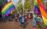 Roze Actie in Winschoten, mede georganiseerd door Roze 50+.  Foto Archief Huisman Media