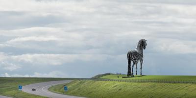 Artist's impression van het paard van Fryslân.