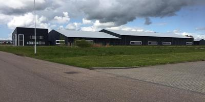 De fabriek van Compakboard meet 180 bij 40 meter. Het complex is opgeleverd, maar nog altijd niet in gebruik genomen. foto lc