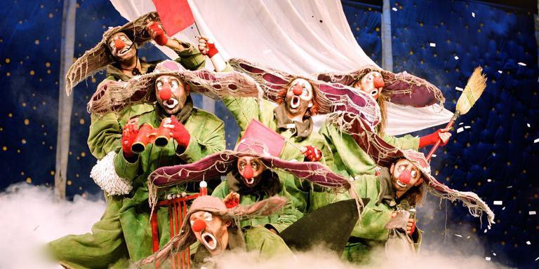 Dertig jaar clownservaring ligt in 'Slava's Snow Show' besloten. Foto Vereonique Vidal
