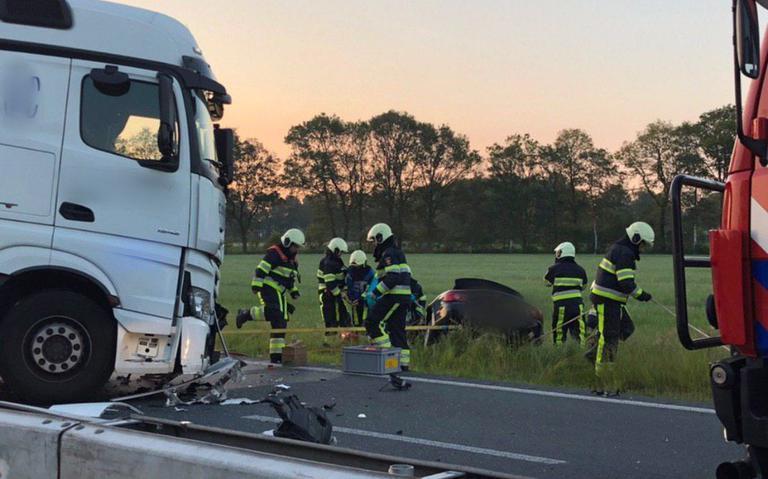 Dodelijk ongeluk op N381 bij Oosterwolde.