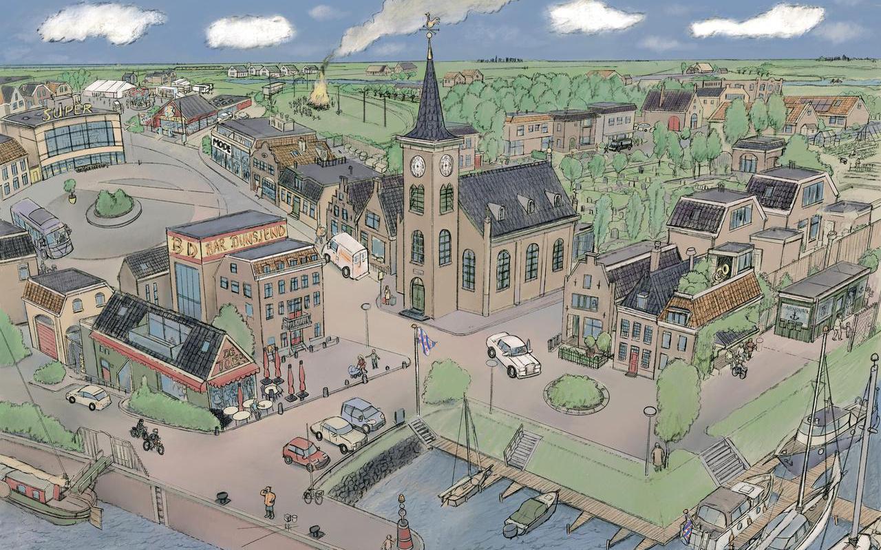 Nearnewrâld, it doarp fan tekener Laurens Bontes en it Skriuwersboun.