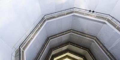 Bezoekers konden gisteren een kijkje nemen in de watertoren van Franeker.