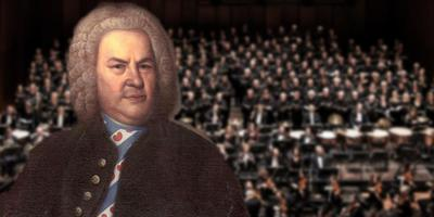 Johann Sebastian Bach in het Fries. FOTOMONTAGE LC