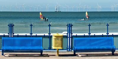 Een fotomontage van het toekomstige Windpark Fryslân. FOTO WINDPARK FRYSLAN