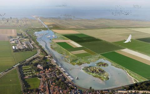 Een impressie van het toekomstige Holwerd aan Zee.