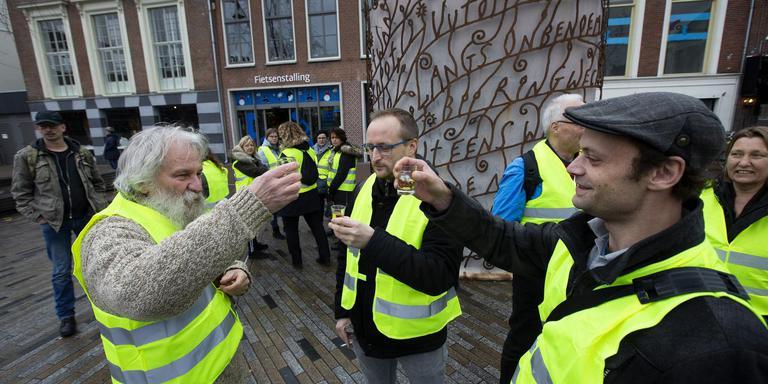 Protest in Leeuwarden,vorige week. FOTO HOGE NOORDEN/JAAP SCHAAF