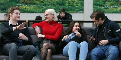 Friesland telt verhoudingsgewijs veel mbo-studenten, zoals hier op het Friesland College. FOTO NIELS WESTRA