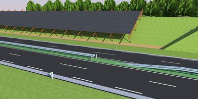 De beoogde zonnewal langs de A32 bij Heerenveen ILLUSTRATIE ROOFTOP ENERGY