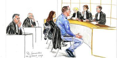 Rechtbanktekening van de zaak Arville. BEELD ANNET ZUURVEEN