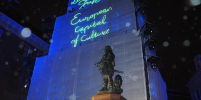 Culturele Hoofdstad biedt Friesland een podium voor verbinding met Europa, vindt commissaris Brok. FOTO HIELKE DE GROOT