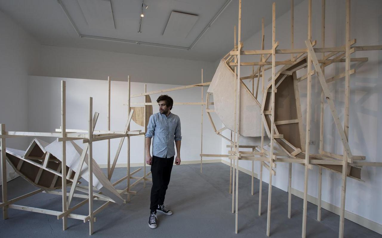 Installatie van Felipe van Laar.  FOTO HOGE NOORDEN/JAAP SCHAAF