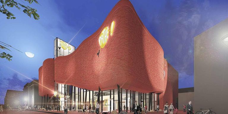 Impressie van de nieuwe Leeuwarder bioscoop aan het Ruiterskwartier