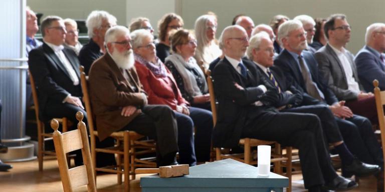 De vrijmetselaars van Sneek vierden zaterdag hun 200-jarig bestaan. FOTO SIMON BLEEKER