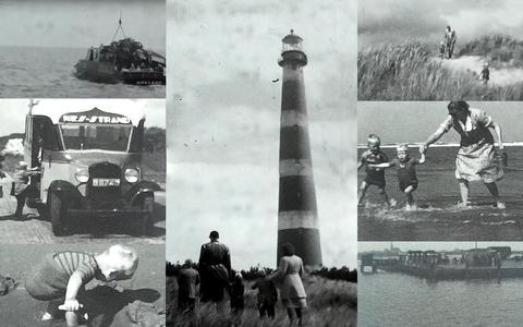 In een doos met 15 filmpjes zat een Amelander vakantievideo uit de jaren dertig