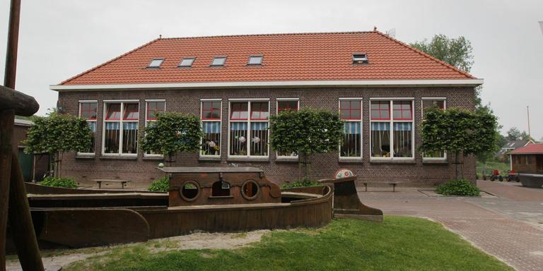 De school Op 'e Feanhoop in De Veenhoop ging in de zomer van 2013 dicht. FOTO ARCHIEF LC