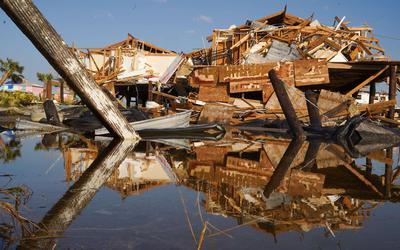 Orkaan Ida zorgde begin september voor flinke schade in het Amerikaanse Louisiana. FOTO AFP