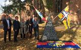 Jonge Friezen schenken Appingedam fontein van Upstalbeam