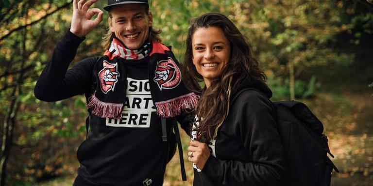 Sander Hoogendoorn en Eva Koreman. FOTO NPO 3FM