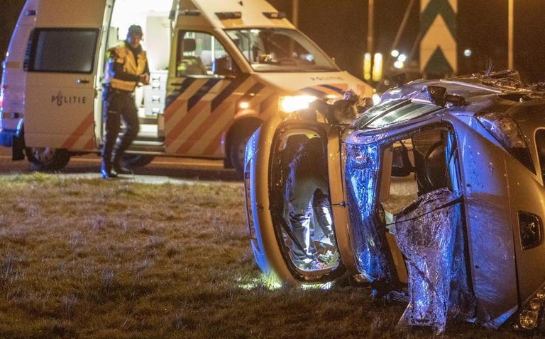 Gewonde bij ongeluk A7 Heerenveen.