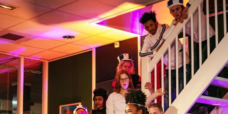 De Eritrees-Nederlandse cast van 'Eritreatown'. FOTO LUCAS KEMPER