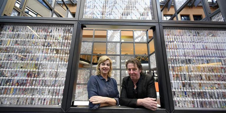 Marijke Tiemersma en Hein de Graaf, bedenkers van het DNA van Leeuwarden. FOTO MARCHJE ANDRINGA