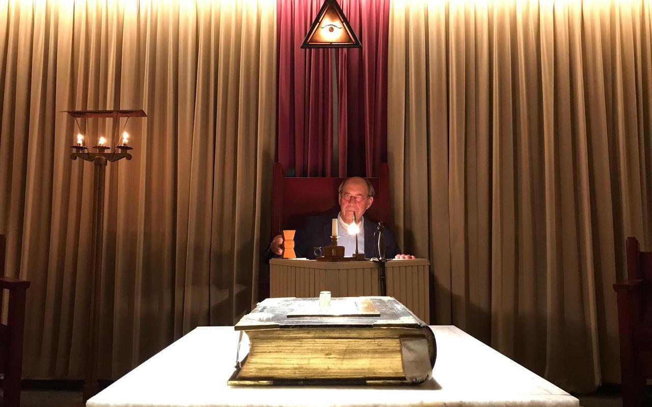 John Deen, voorzitter van vrijmetselaarsloge Deugd en IJver in Harlingen.
