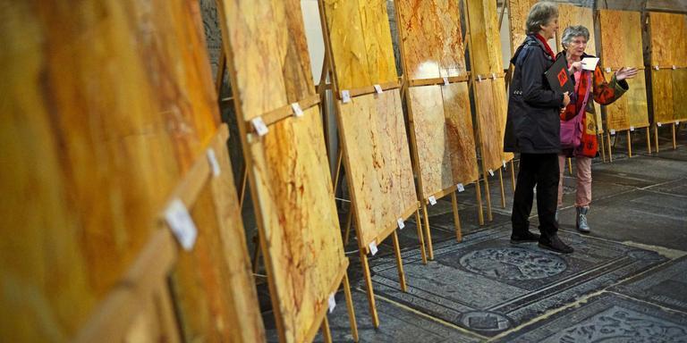 Schildersvakwerk tentoongesteld in de Martinikerk. Foto Niels de Vries