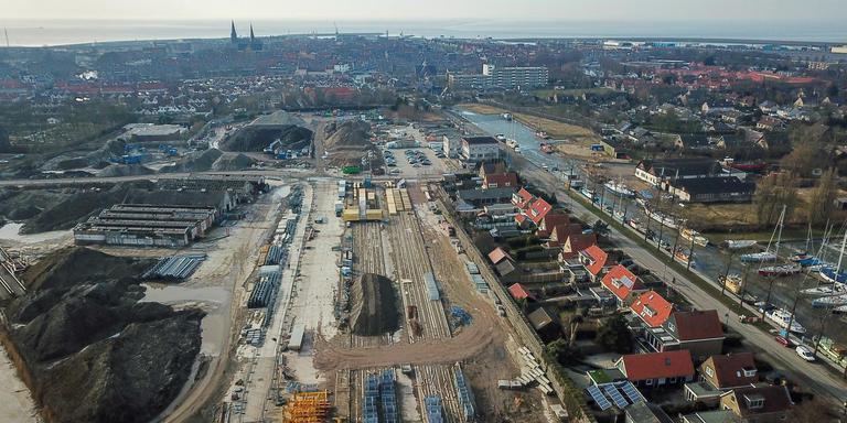 In Harlingen ligt het 6,75 hectare grote Spaansenterrein braak. FOTO ARODI BUITENWERF