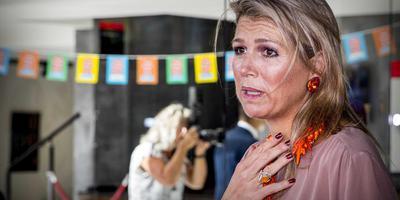 Koningin Máxima bij schouwburg De Lawei. FOTO ANP/PATRICK VAN KATWIJK