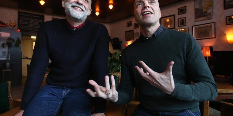 Uri Ivgi (links) en Johan Greben. ,,Een gek gevoel om weer in mijn eigen oude stad te werken