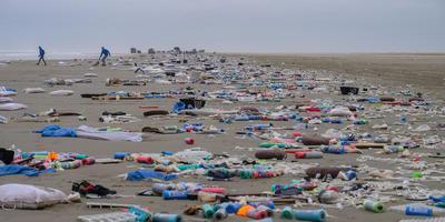 Het strand van Schiermonnikoog vorig weekeinde. FOTO LC/ARODI BUITENWERF