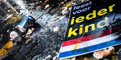 Leden van de harde kern van PSV gaven in Eindhoven een tegendemonstratie op de actie van Kick Out Zwarte Piet.