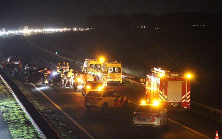 A7 richting Groningen dicht bij Drachten door ongeval.