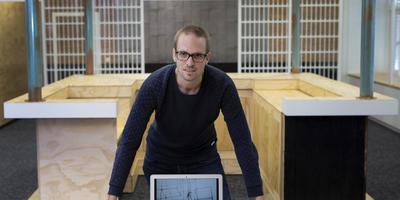 Harold Dijkstra wil online mensen gaan helpen bij het volhouden van hun goede voornemens. FOTO HOGE NOORDEN/JAAP SCHAAF
