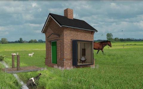Trafohuisje Wirdum krijgt nieuw leven als 'trekkershut'