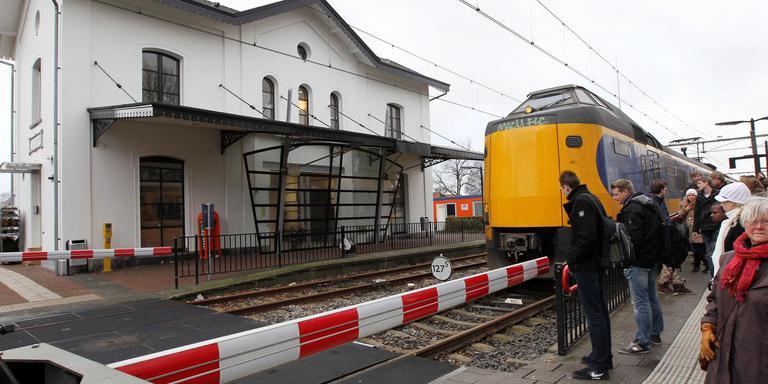 De trein bij station Wolvega. FOTO ARCHIEF LC