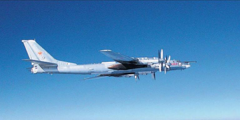 Een Toepolev-95-bommenwerper.