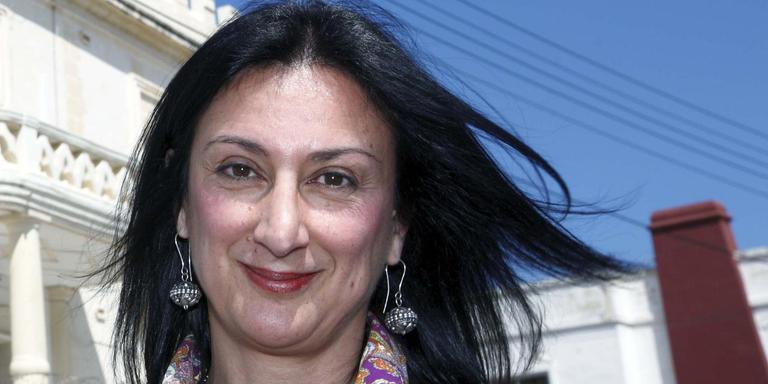 De vorig jaar met een autobom vermoorde Daphne Caruana Galizia, hier op een foto in april 2011.
