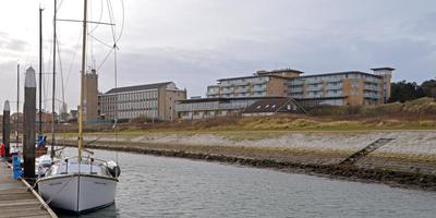 Het omstreden Dellewalgebied met links op de achtergrond de Zeevaartschool. FOTO JAN HEUFF