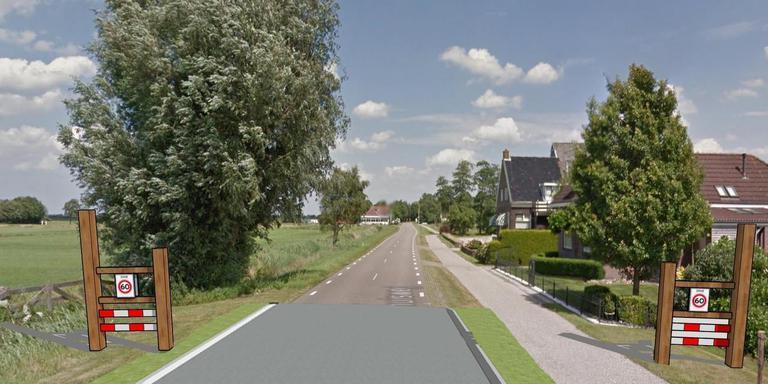 Kruispunt in de Domela Nieuwehuisweg met De Gearen in Nij Beets moet opnieuw ingericht worden. FOTO LC