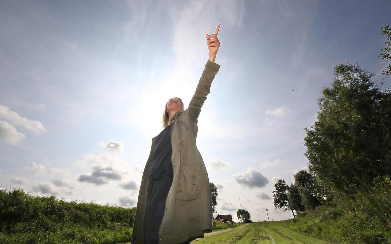 Jukema is bedenker/uitvoerder van het project Tempeltje van Wijnaldum.  Foto Simon Bleeker