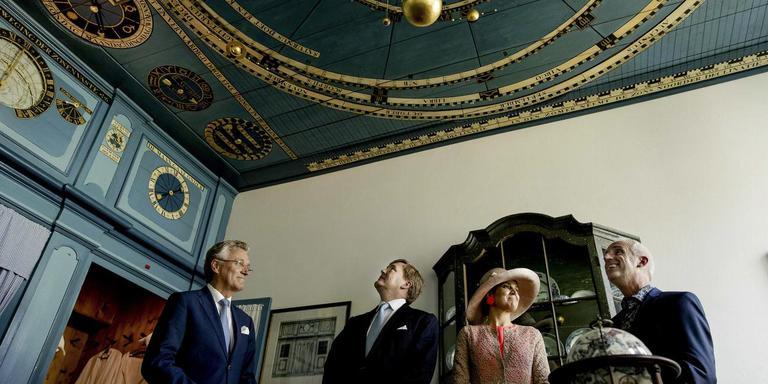 Tijdens het bezoek aan het Planetarium in Franeker.
