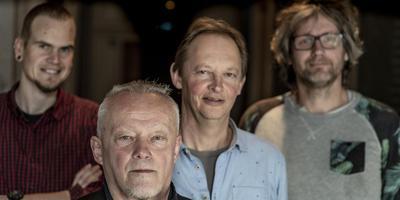 Geart Tigchelaar, Cornelis van der Wal, Syds Wiersma en Elmar Kuiper. FOTO HOGE NOORDEN/JACOB VAN ESSEN