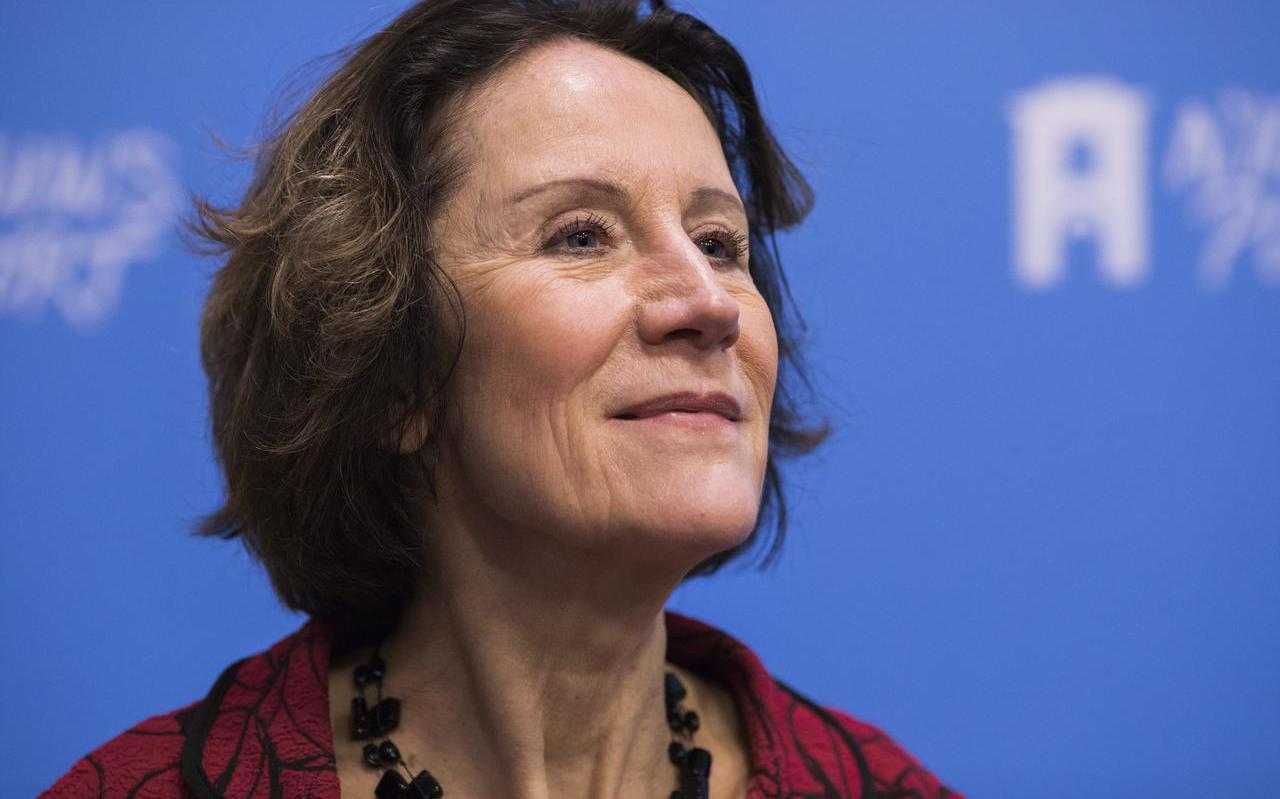 Louise Vet bij de presentatie van het Deltaplan Biodiversiteitsherstel. ,,Ik wil uit de buurt blijven van politieke spelletjes.''
