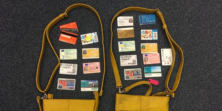 De gestolen en de nieuwe tas. FOTO LC
