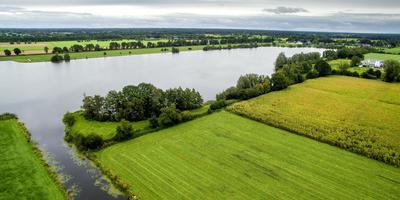 De Lippe Gabriëlsplas bij Ureterp. Op het water moeten 38.500 zonnepanelen komen. FOTO JILMER POSTMA