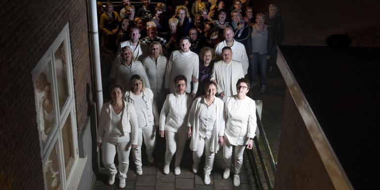In Feanwâlden wordt druk gerepeteerd voor de opvoering van de Passion. FOTO HOGE NOORDEN/JACOB VAN ESSEN