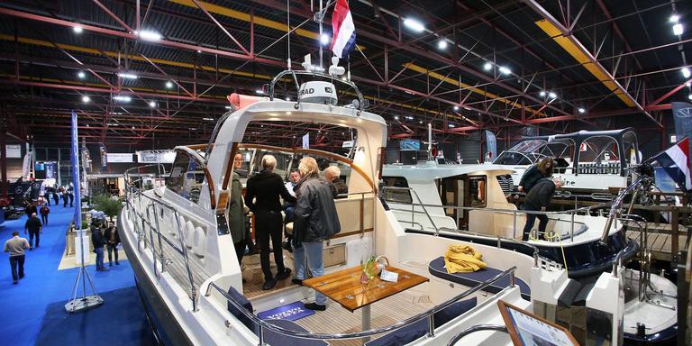 In vier hallen in het WTC in Leeuwarden wordt de beurs Boot Holland gehouden. FOTO NIELS WESTRA